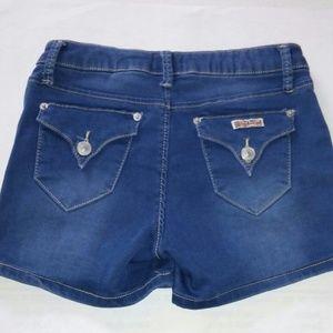 Hudson Girls 16 Blue Jean Shorts Cotton Blend